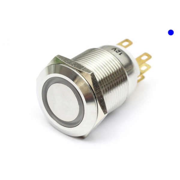 Perle Systems anti-vandalo 12 V 19-22 mm Interruttore Momentaneo illuminato a LED